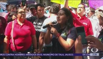 Trabajadores de Secretaría de Cultura protestan