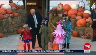 Trump y su esposa Melania comienzan la celebración de Halloween