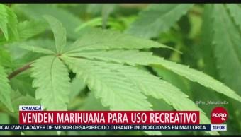 Venden marihuana para uso recreativo en Canadá