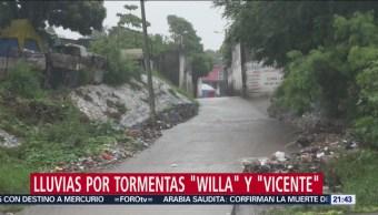 Vicente Willa Provocaran Tormentas 8 Estados
