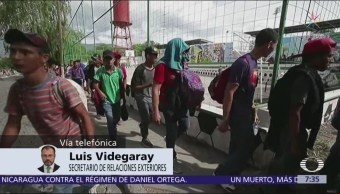 Videgaray Prioridad ante la caravana es la protección de los migrantes