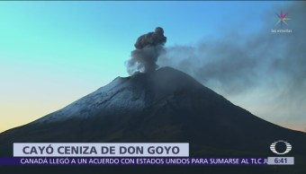 Volcán Popocatépetl emite exhalación de 1.2 kilómetros