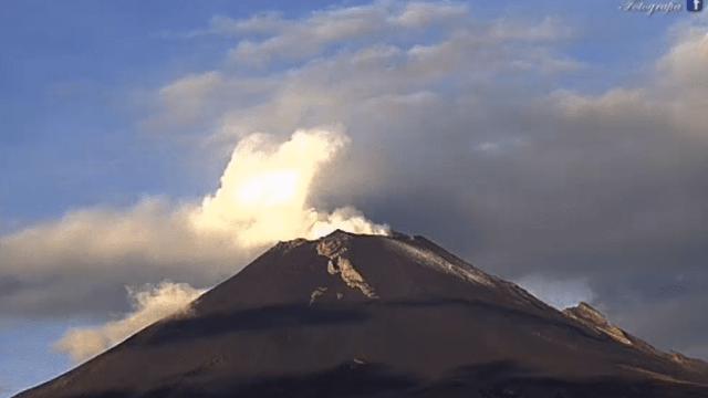 volcan popocateptl exhalaciones domingo octubre actividad