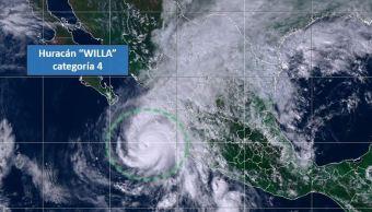 'Willa' se degrada a categoría 4