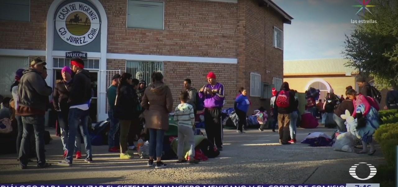 200 migrantes esperan en Juárez que EU resuelva peticiones de asilo