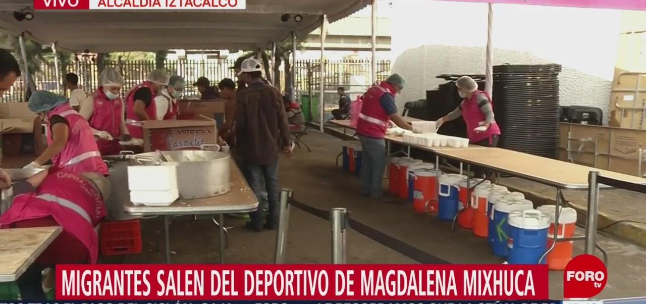 Migrantes Salen De Deportivo Magdalena Mixhuca Integrantes De La Caravana Migrante Deportivo Magdalena Mixhuca Alcaldía De Iztacalco Rumbo A Estados Unidos