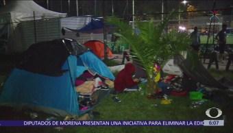 A su máxima capacidad la carpa para niños y mujeres migrantes en CDMX