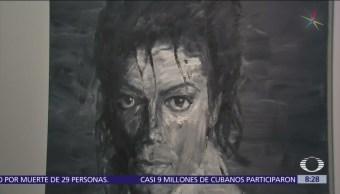 Homenaje a Michael Jackson con pinturas, fotos y videos en París