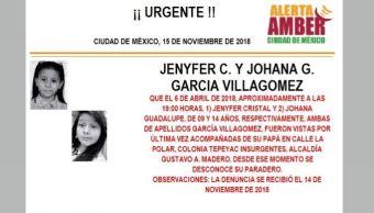 Alerta Amber Jenyfer Cristal Johana Guadalupe García Villagómez