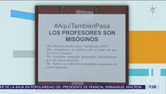Alumnas del Colegio de México denuncian violencia de género
