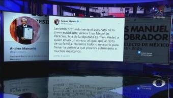 AMLO Condena Asesinato Hija De Diputada Carmen Medel
