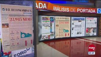 Análisis de las portadas nacionales e internacionales del 9 de noviembre del 2018