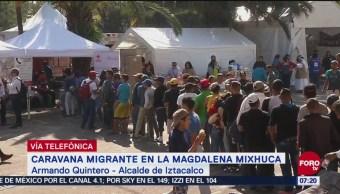 Armando Quintero: Alcaldías sólo pueden brindar ayuda temporal a caravana migrante