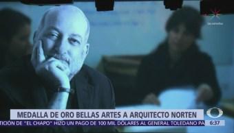 Arquitecto Norten recibe 'La Medalla de Oro Bellas Artes'