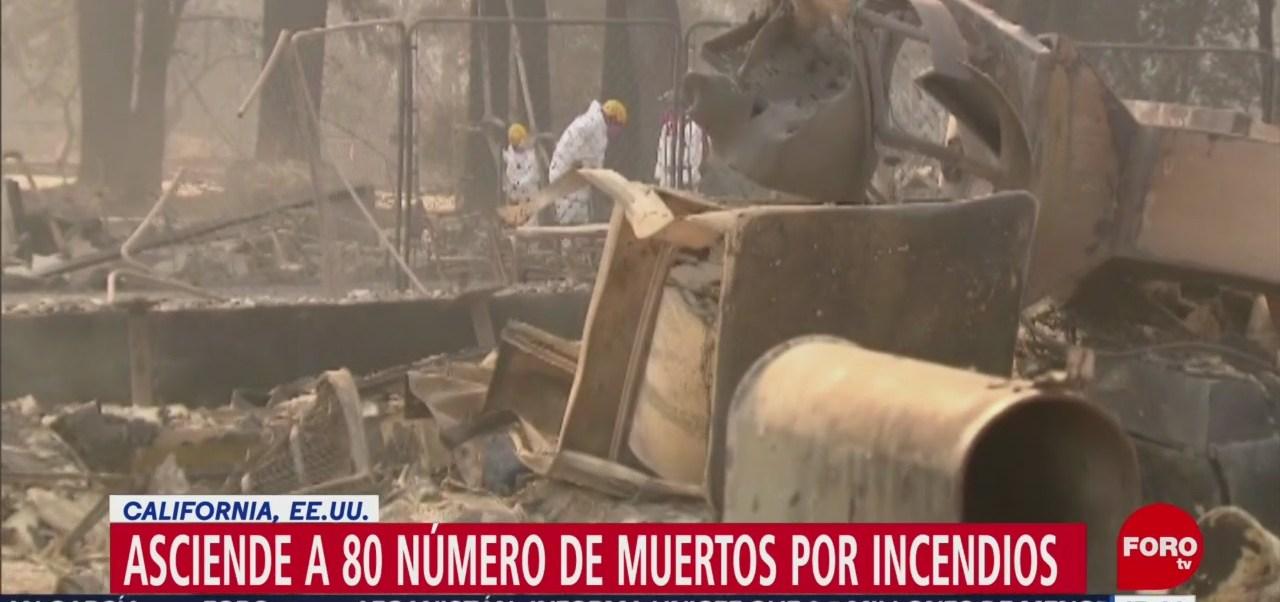 80 Número De Muertos Por Incendios En California Estados Unidos Incendios En California Camp Fire