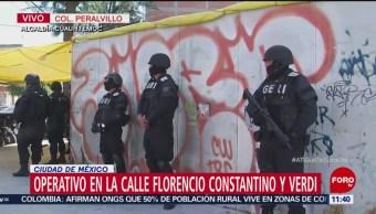 Aseguran inmueble utilizado por un grupo criminal en la CDMX
