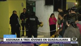 Asesinan a tres jóvenes en Guadalajara, Jalisco