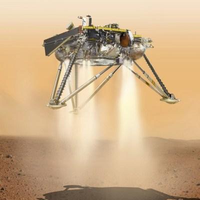 Vehículo espacial InSight, de la NASA, se posa en Marte