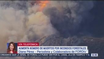 Aumenta número de muertos por incendios forestales en California