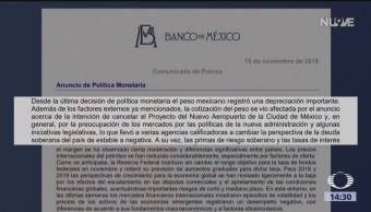 Banco de México aumenta tasa de interés interbancaria