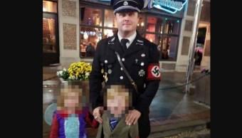 Padre Hijo Disfraza Hitler Nazi Halloween
