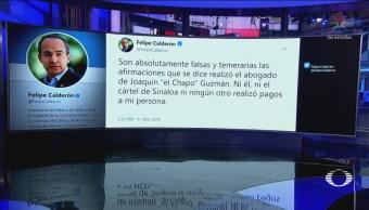 Calderón Presidencia Niega Afirmaciones 'El Chapo' Guzmán