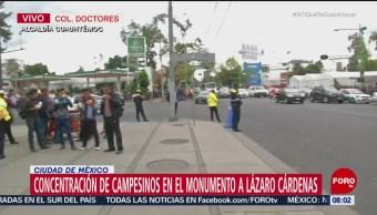 Campesinos se concentran en CDMX para realizar manifestación