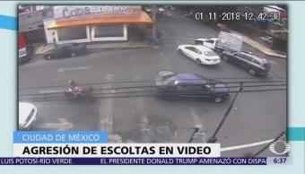 Capturan a 4 escoltas que golpearon a conductor en Coyoacán