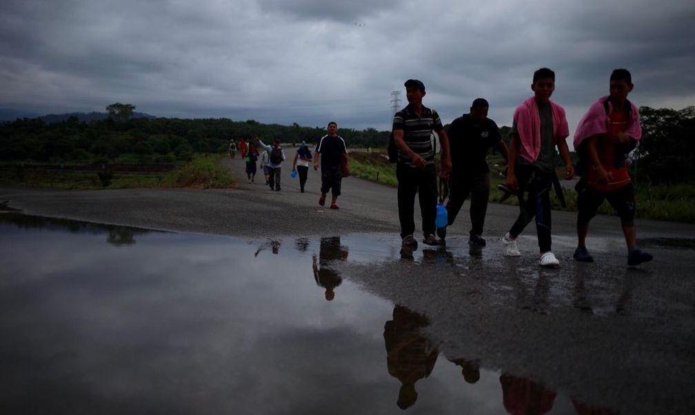 Cuarta caravana de migrantes llega a Huixtla, Chiapas