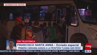 Caravana migrante avanza hacia la frontera Tijuana-San Diego