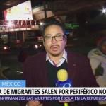 Caravana migrante avanza sobre Periférico Norte hacia Querétaro