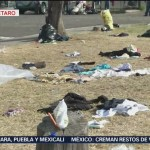 Caravana Migrante deja toneladas de basura en Querétaro