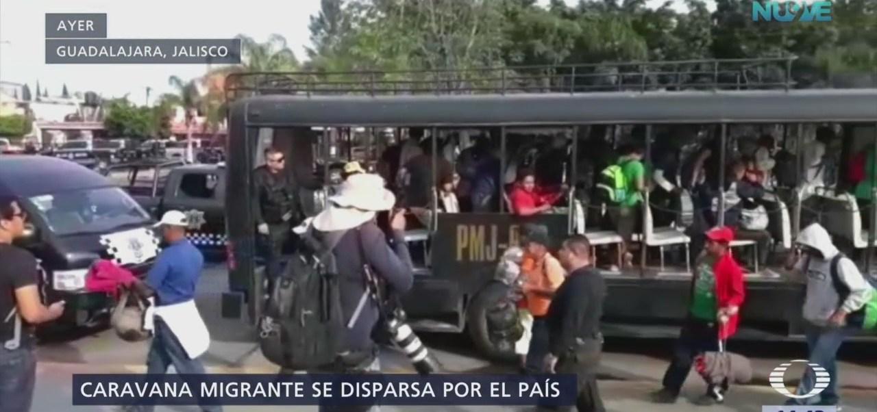 Caravana migrante se dispersa en varios puntos