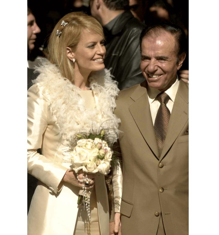 Cecilia Bolocco y Carlos Menem se casaron en 2001 y se separaron en 2007. (AP, archivo)