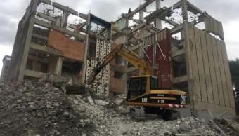 SOBSE concluye demolición de edificio Centauro tras 19s