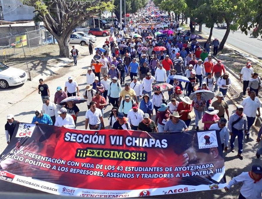 Manifestaciones de la CNTE provocan caos en Chiapas