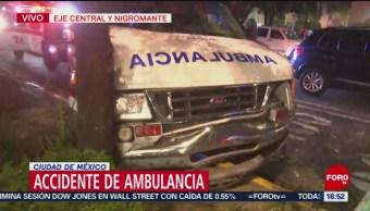 Choca Ambulancia Eje Central CDMX ERUM