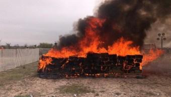 PGR incinera más de dos toneladas de droga en Coahuila