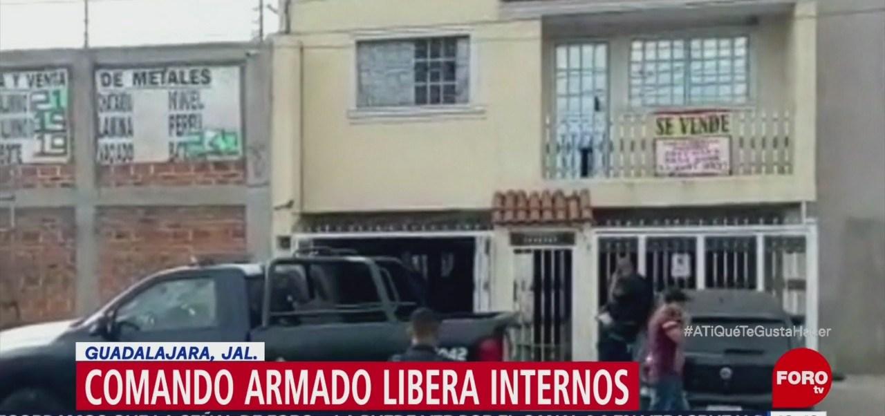 Comando armado libera internos en Guadalajara, Jalisco