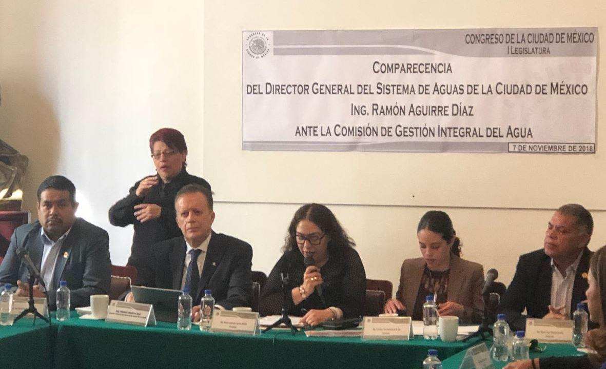 Ramón Aguirre comparece ante Congreso de CDMX por Cutzamala