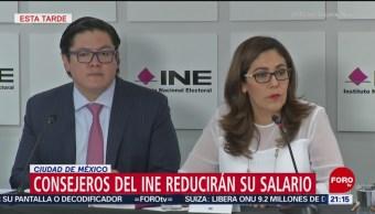 Consejeros Del INE Reducirán Sus Salarios
