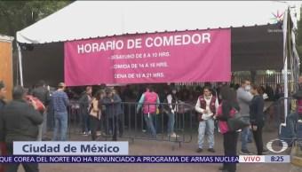 Continúa llegada de migrantes centroamericanos al deportivo Magdalena Mixhuca