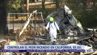 Controlan el incendio forestal 'Camp Fire' en California