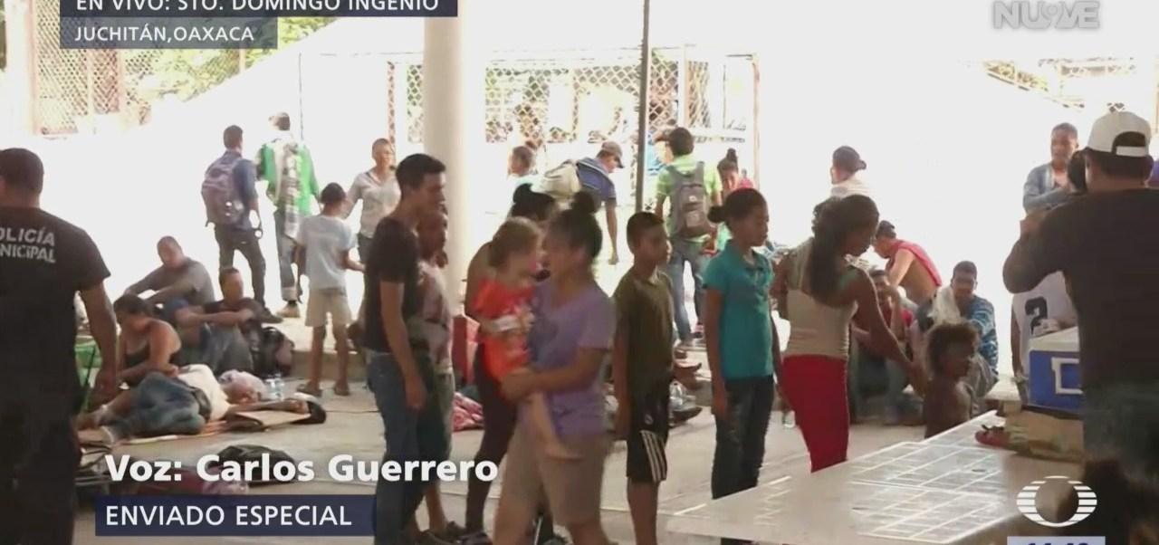 Llega segunda caravana migrante a Juchitán, Oaxaca