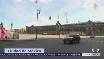 Cortes viales en Zócalo capitalino por toma de posesión de AMLO