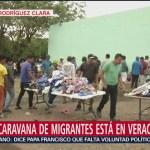 Cuarta caravana migrante recibe atención en Veracruz
