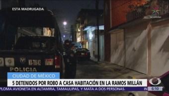 Detienen a cinco jóvenes por robo a casa habitación en Iztacalco