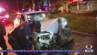Madrugada de accidentes vehiculares en Iztapalapa, CDMX