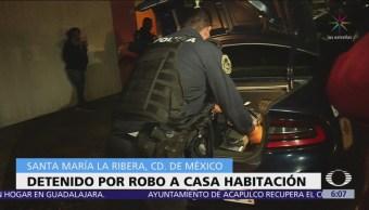 Detienen a ladrón de casa en la colonia Santa María