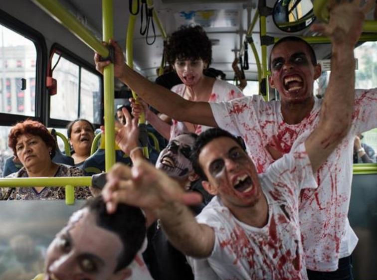 Día de Muertos: zombis toman el centro de Sao Paulo